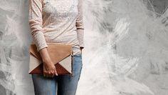 Bolsos de sobre - Bolso de sobre tricolor, tamaño medio. - hecho a mano por cocoono en DaWanda