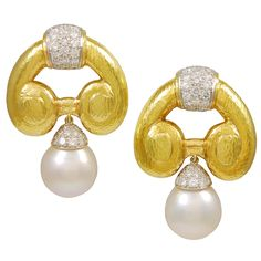 1stdibs - Magnificent DAVID WEBB South Sea Pearl Ear Clips explore items from 1,700  global dealers at 1stdibs.com