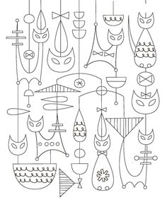 Best embroidery cat pattern coloring pages 59 Ideas Learn Embroidery, Crewel Embroidery, Embroidery Patterns, Embroidery Thread, Pattern Coloring Pages, Brazilian Embroidery, Mid Century Art, Flower Fairies, Cat Pattern