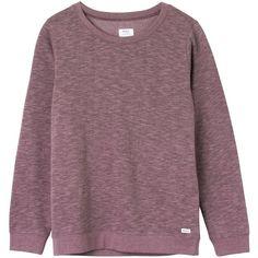 RVCA Criton Crew Sweatshirt ($29) ❤ liked on Polyvore featuring tops, hoodies, sweatshirts, jumpers, shirts, sweaters, cuff shirts, crew neck shirt, rvca shirts and purple sweatshirt