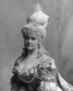 Frances Evelyn (Daisy),  Countess of Warwick,  née Maynard  (1861-1938)    as Marie Antoinette ,1890s