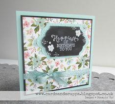 Sarah-Jane Rae cardsandacuppa: Stampin' Up! UK Order Online 24/7: Chalkboard Floral using Birthday Blooms by Stampin' Up! to make a Birthday Card
