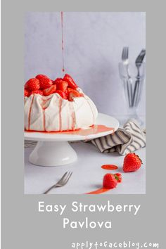 This Strawberry Pavlova recipe is about as easy and simple as it gets. A make ahead dessert that is a great family favourite and perfect dinner party dessert. A homemade pavlova or baked meringue dessert is always going to go down a treat. #meringue #pavlovarecipe #strawberrypavlova #makeaheaddessert #summerrecipes #summerdesserts #applytofaceblog Make Ahead Desserts, Summer Desserts, Easy Desserts, Summer Recipes, Great Recipes, Baked Meringue, Meringue Desserts, Raspberry Roulade, Strawberry Pavlova