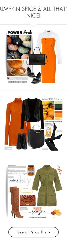 """""""PUMPKIN SPICE & ALL THAT'S NICE!"""" by elizabethhorrell ❤ liked on Polyvore featuring Morgan, Victoria Beckham, Dasein, WithChic, Dorothy Perkins, Kitx, Forever 21, M.i.h Jeans, STELLA McCARTNEY and A.P.C."""