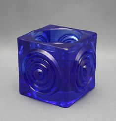 "TAMARA ALADIN - Candleholder ""Rengas""/Kääntö kynttilänjalka by Riihimäen Lasi Oy, Finland. Glass Design, Design Art, Yves Klein Blue, Shopping Places, Old Antiques, New Pins, Aladdin, Cobalt Blue, Shades Of Blue"