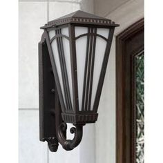 """Parisian PE4400 Series 34"""" Wall Lantern Finish: White by Melissa Lighting. $686.99. PE449003-WH Finish: White Features: -Wall lantern.-Opal glass panel.-Electronic ballast EBPL:13-26-32-42(four pin).-UL listed. Options: -Available in Black, White, Old Iron, Architectural Bronze, Rusty Nail, Old Bronze, Old World, Aged Silver, Patina Bronze and Old Copper finishes. Construction: -Cast aluminum construction. Specifications: -Accommodates (2) 75W Edison Base bulbs. Dimensions: -O..."""