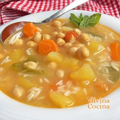 Spanish Kitchen, Spanish Food, Mexican Food Recipes, Snack Recipes, Healthy Recipes, Healthy Food, Hot Soup, Barbacoa, Sin Gluten