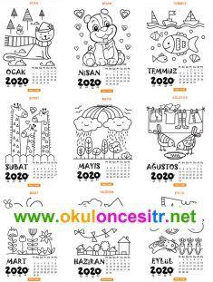 2020 Yaprak Takvim K Bullet Journel, Page Borders, Viking Tattoo Design, Sunflower Tattoo Design, Happy New Year 2020, Journal, Homemade Beauty Products, Preschool Art, Color Tattoo