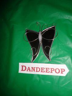 Purple Stained Glass Butterfly Suncatcher find me at www.dandeepop.com