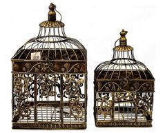 Birdcage Wedding Card Box Holder Set / Wishes / by SophieAtelier, $99.00
