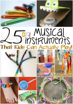 These 25 DIY musical instruments are perfect because not only are they inexpensive to make, but also totally playable. Jam on!