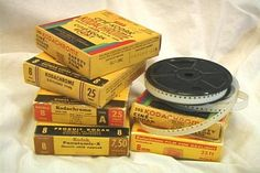 "In the 1920s, Kodak first marketed to consumers an equipment package consisting of a 16-mm camera, tripod and projector. The camera weighed seven pounds and ""16 mm"" (sixteen millimeter) referred to the width of the film one threaded onto a maze of sprockets inside the camera. - http://www.brucesallan.com/2012/12/14/evolution-technology-home-movies/"
