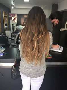 Californiana Hair Color Asian, Asian Hair, Ombre Hair Color, 2015 Hairstyles, Pretty Hairstyles, Straight Hairstyles, Brown Blonde Hair, Dark Hair, Love Hair