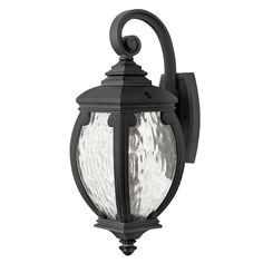 There's something marvelously bewitching about the pieces in the Forum collection. Lanterns such as these might have decorated the court of the Red Queen from Alice in Wonderland. This wall-mounted outdoor lantern's appealing shape and accentuating, enchanted coils will enhance the magic of any landscape.