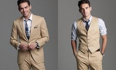 Suit...no tuxes, for a spring or summer wedding