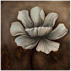 Bassett Mirror Translucent Flower Canvas 7300-006EC