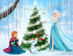 Christmas in Arendelle by ribkaDory