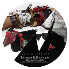 """The """"#MDGRAPHY #LordsDevils"""" #PocketSquares Collection born as men's collection, it is alsodedicated to charming-fashionista ladies, who love wearing pocket squares as stylish#silk #bracelets or #bagtags, with a dandy-romantic taste."""
