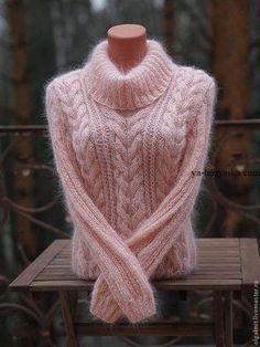 Красивый свитер из мохера. Модели джемперов из мохерa ручной вязки