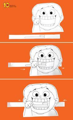 me ~ Child Brushing Teeth Printable Craft Dental Kids, Printable Crafts, Dental Health, Preschool Activities, Space Activities, Crafts For Kids, Kids Diy, Children, Brush Teeth