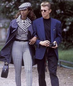words cannot express my love for their outfits - how can a couple be this cool it blows my mind #DavidBowie #Bowie #Iman