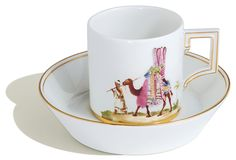 Cup and saucer, African Fascination, Bedouin with camel, Limited Masterpieces, H 6,5 cm