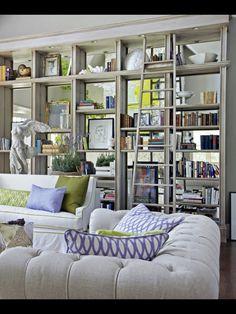 Home Renovation Ideas - How To Renovate a House Built In Bookcase, Bookshelves, Bookshelf Ideas, Living Room Mirrors, Living Room Decor, Interior Exterior, Interior Design, Architecture, Decoration