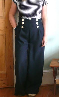sailor trousers from Simplicity 2654