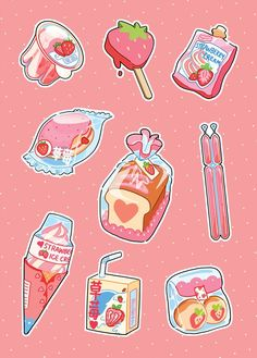 Strawberry food Strawberry food The post Strawberry food & Kawaii appeared first on Food . Art Kawaii, Arte Do Kawaii, Kawaii Doodles, Cute Food Drawings, Cute Kawaii Drawings, Kawaii Stickers, Cute Stickers, Preppy Stickers, Aesthetic Art