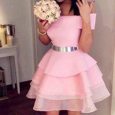 Pink Homecoming Dresses,coral Prom Dress,short Ruffles Prom Dress,women's Party Dress,organza Cockta on Luulla Elegant Homecoming Dresses, Dresses Elegant, Elegant Bridesmaid Dresses, Plus Size Prom Dresses, Evening Dresses, Prom Dress Stores, Dress Prom, Pink Dress, Dresses Short