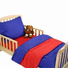 American Baby Company Toddler Bedding Set - Royal Blue and Red - 1440RY