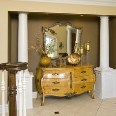 Buffet Table Decor, Dining room buffet. LOVE the table... could DIY reclaimed....