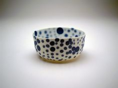 biff:    peccadillocollection:    this little bowl make me happy - the dot pattern is so playful    Pieter Stockmans