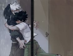 """""""Bakugou finally kicked his own ass into talking to Deku again, more than a month after the lust quirk incident"""" My Hero Academia Episodes, My Hero Academia Shouto, Hero Academia Characters, Sad Anime, I Love Anime, Lgbt Anime, Bakugou Manga, Boko No, Handsome Anime"""