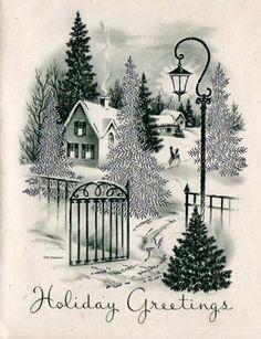Pretty Christmas Card AF97 | eBay