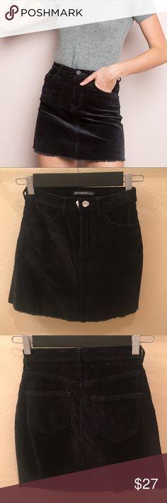 Juliette Corduroy Skirt Cute black brandy skirt. Not NWT but never worn Brandy Melville Skirts Mini