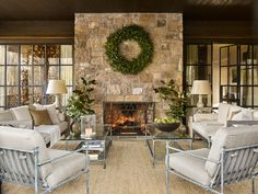 Blackberry Visions Roger Higgins and Ann Shipp bring holiday magic to a Blackberry Farm family retreat Outdoor Spaces, Outdoor Living, Outdoor Decor, Outdoor Ideas, Enchanted Home, Teak Table, French Oak, Do It Yourself Home, Traditional House