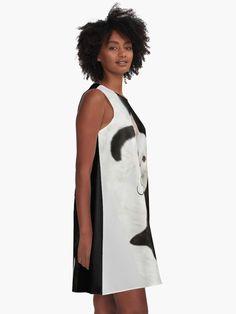 """I Love Cat"" A-Line Dress by clecio   Redbubble Racerback Tank Top, Baby Bodysuit, School Supplies, Shirt Dress, T Shirt, Chiffon Tops, Line, Backpack, Masks"