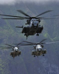 Good things come in three's. Three Marine CH-53E... Hawaii