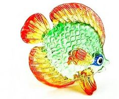 Coastal Style MINIATURE HAND BLOWN Art Small Glass Fish No. 07 FIGURINE Collection