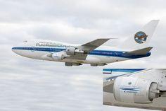 O Boeing 747SP voou com os motores que serão instalados nos novos jatos da Embraer (Pratt & Whitney)