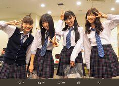 ももいろクローバーZ主演ミュージカル『ドゥ・ユ・ワナ・ダンス?』が10月8日に千秋楽を迎えた。9月24日に千葉・舞浜アンフィシアターで開幕した本作は、2015年に映画・舞台『幕が上がる』でタッグを組んだ本広克行が演出、脚本を鈴木聡が手掛けたももクロの楽曲を織り込んだ創作ミュージカルで、彼女たちの力を存分に引き School Uniform Girls, High School Girls, School Uniforms, Momoiro Clover, Sailor Moon, Coat, Sweaters, Heels, Style