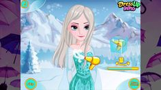 Game Thoi Trang Cham Diem Frozen Elsa Feather Chain Braids