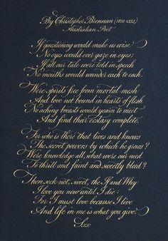 My Calligraphy Blog: Christopher Brennan Poem (2010)
