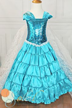 Snow Queen Elsa Real Frozen Ball Dress by SCbydesign on Etsy, $139.99