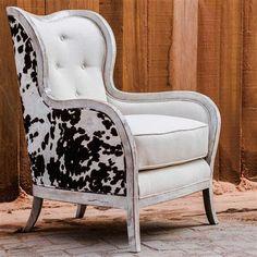 Cowhide Decor, Cowhide Furniture, Cowhide Chair, Rustic Furniture, Kitchen Furniture, Outdoor Furniture, Chair Upholstery, Upholstered Chairs, Wingback Chair