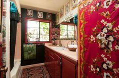 Bathroom Bohemian Suburban House Monterey CA