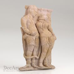 3D models of Indian bas-reliefs for visualization and production on CNC machines & 3D printing.