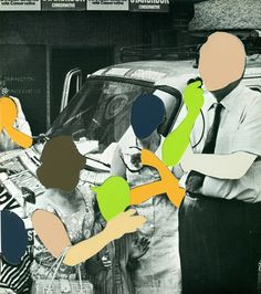 """Saatchi Online Artist: Maximo Tuja; Paper, Assemblage / Collage """"Untitled (Family)"""""""