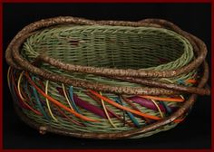 Trinket Catcher, a colorful woven bowl by Tina Puckett